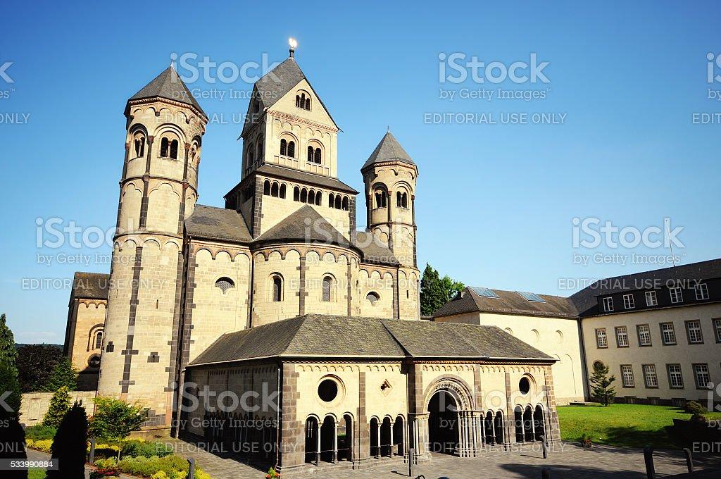 Monestary Maria Laach church stock photo
