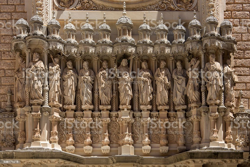 Monestir de Montserrat - Catalonia - Spain stock photo
