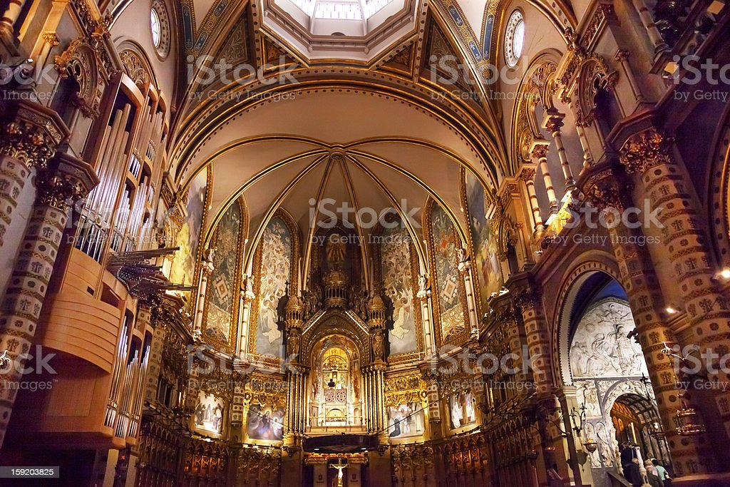 Monestir Monastery Montserrat Catalonia Spain stock photo