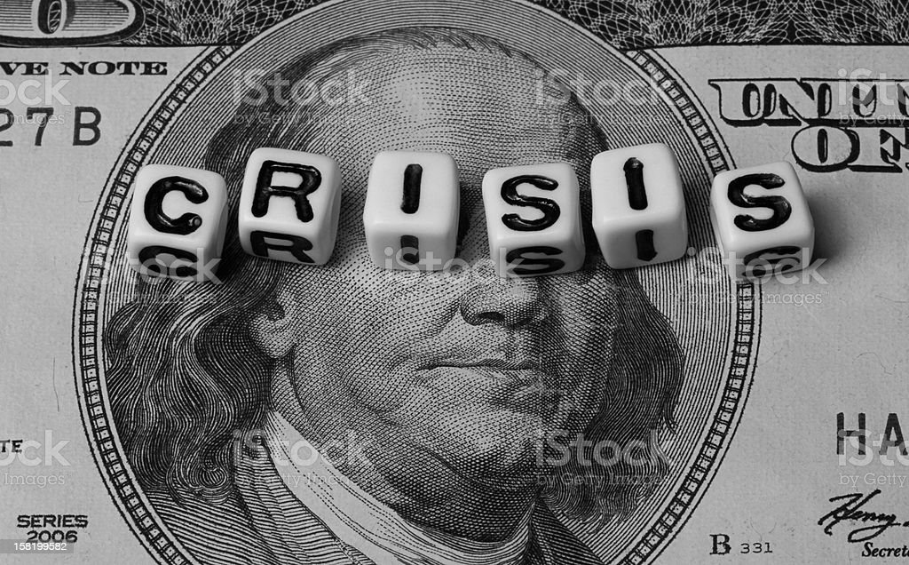 Monetary Crisis stock photo