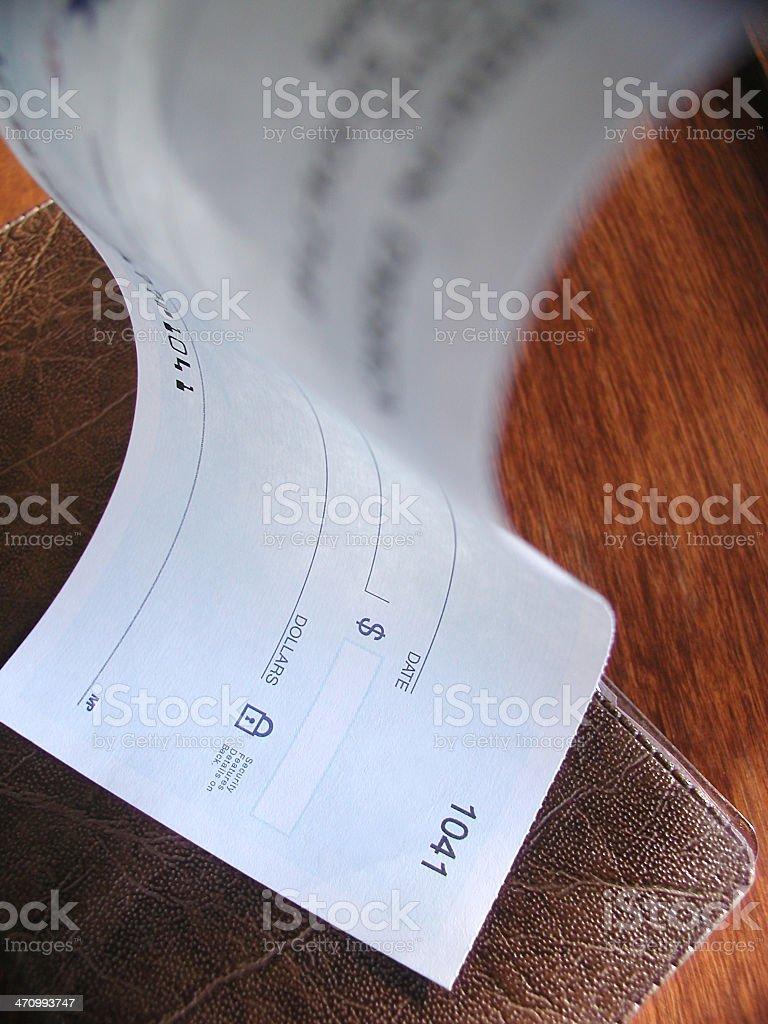 Monetary or Banking Concept: Bouncing Check stock photo
