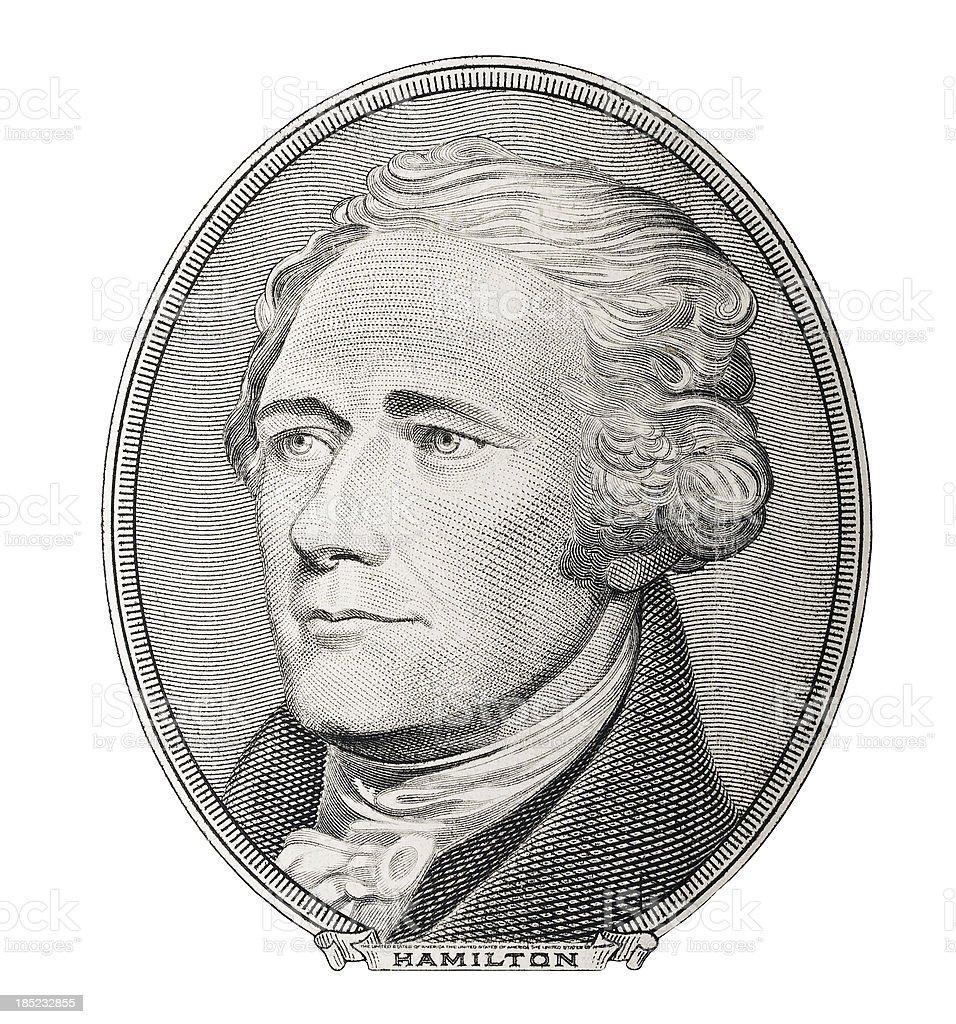 Money. Alexander Hamilton portrait stock photo