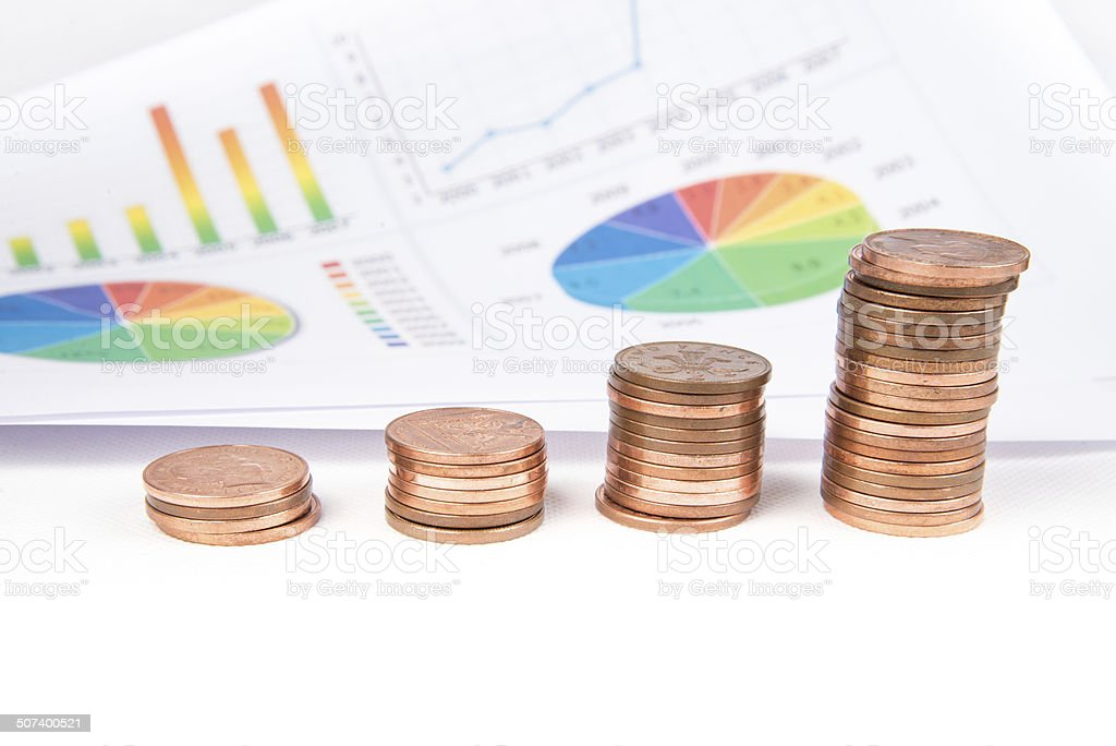 Money and chart stock photo