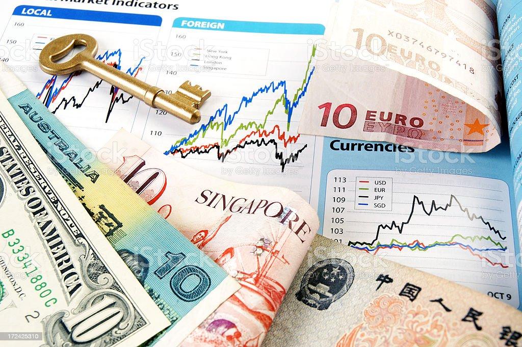 Money And Charts stock photo