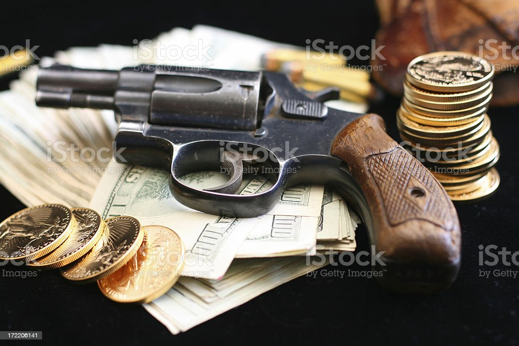 Money and Crime royalty-free stock photo