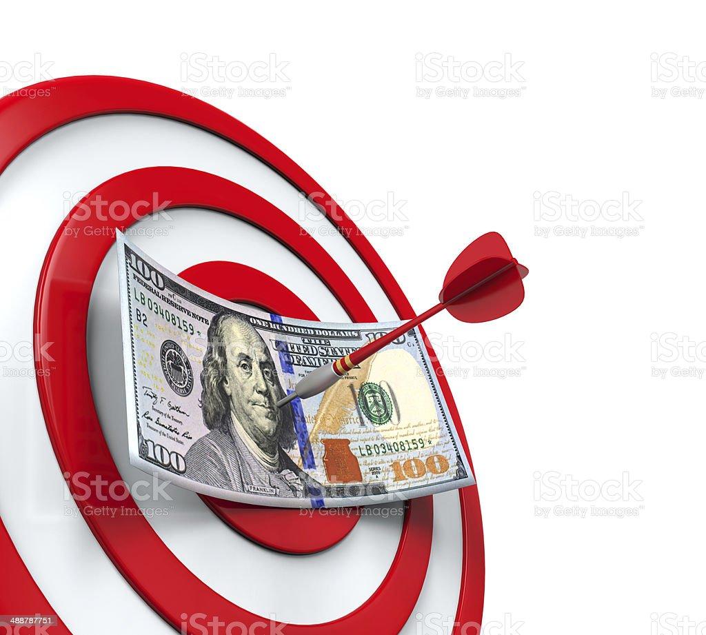 Money and Darts stock photo