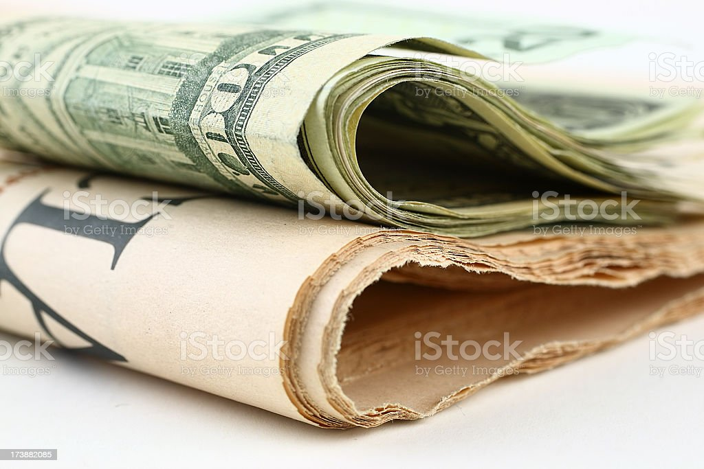 Money and documents royalty-free stock photo
