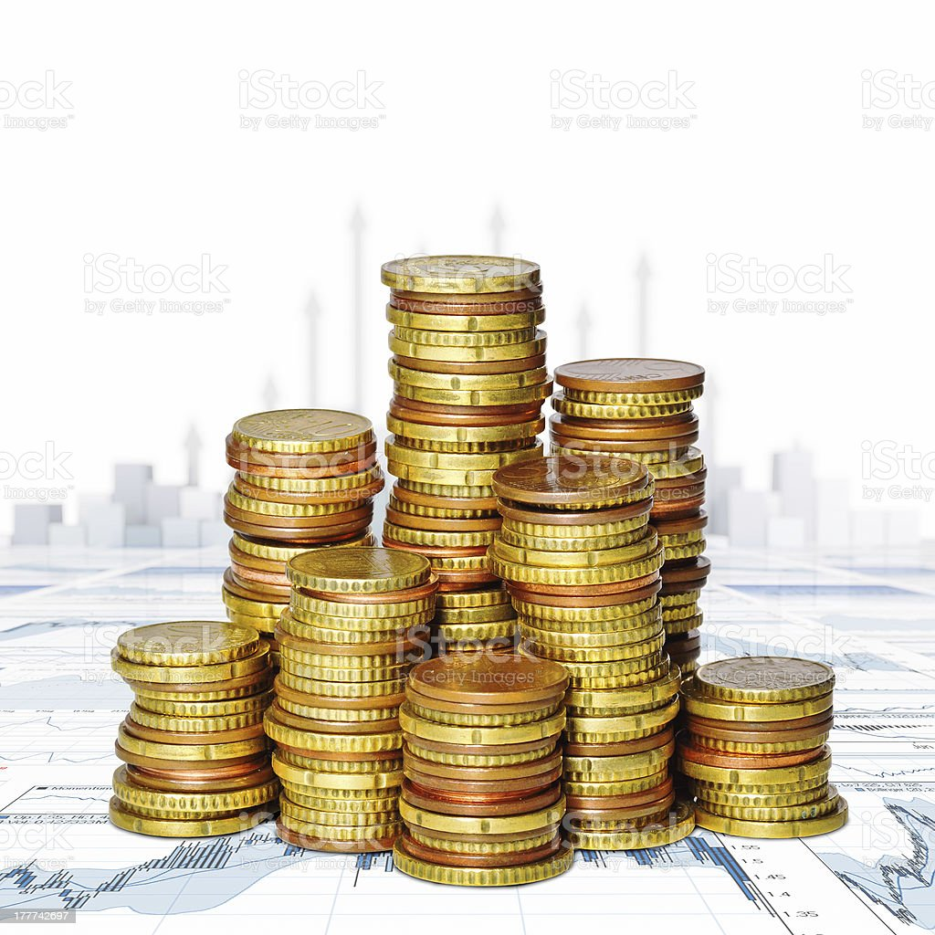 money  and financial graph royalty-free stock photo