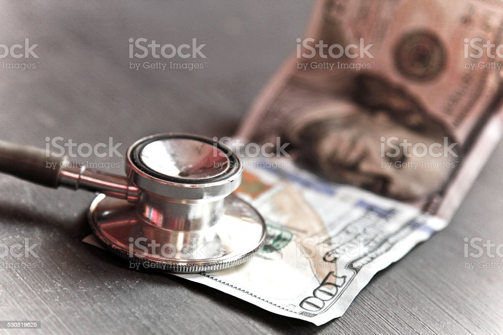 Money and healthcare concept stock photo