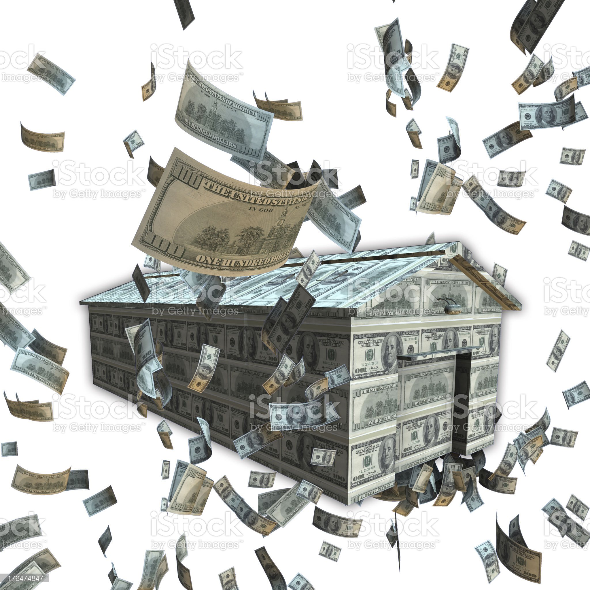 Money and House royalty-free stock photo