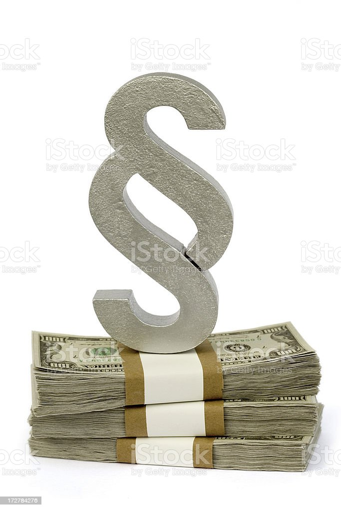 Money and Law stock photo