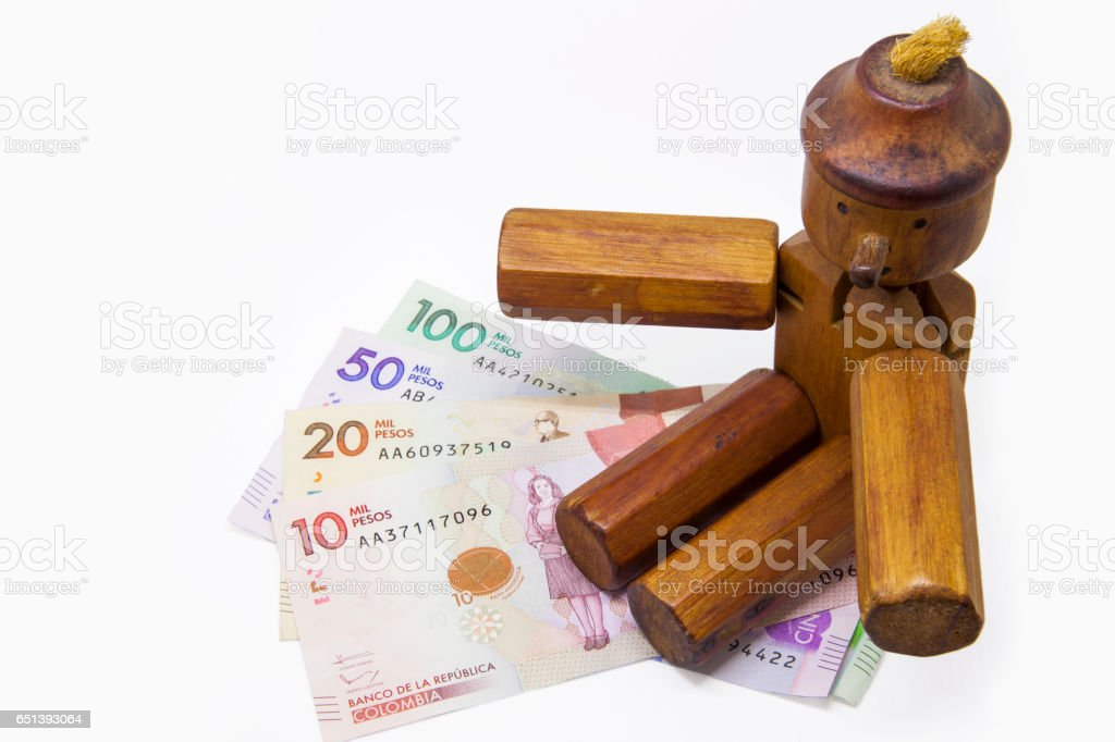Money and lies stock photo