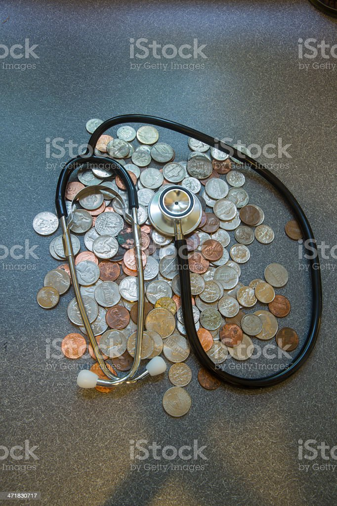 Money and Medicine royalty-free stock photo