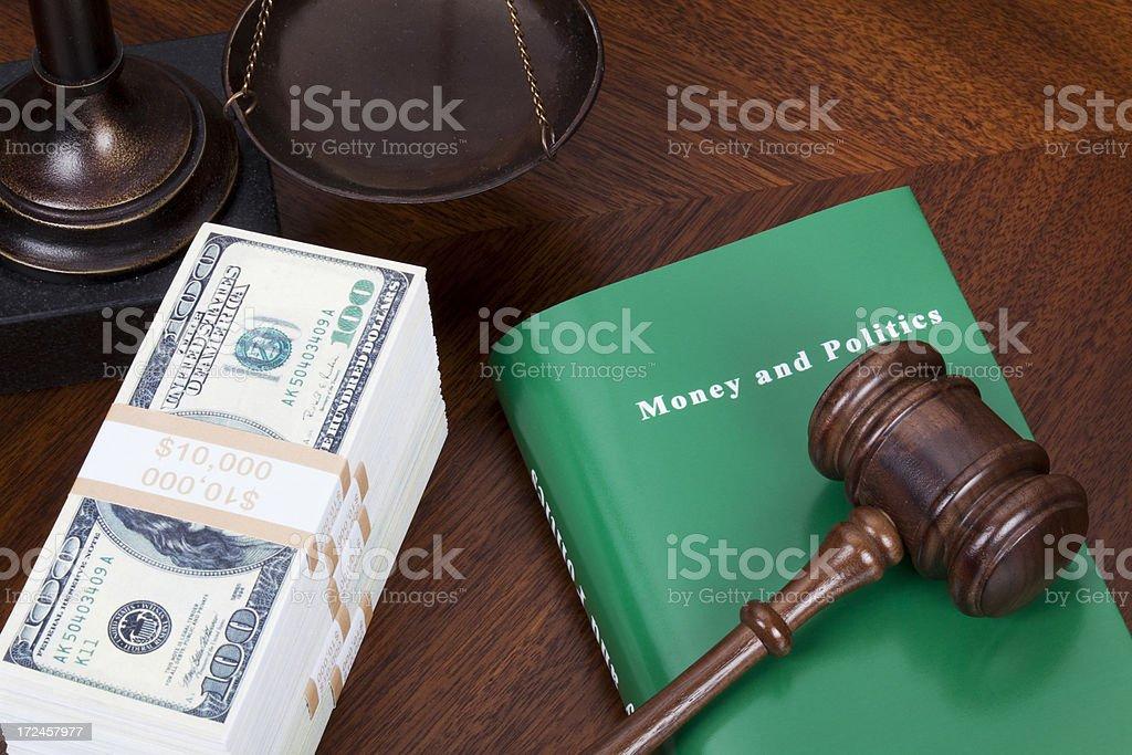 Money and politics royalty-free stock photo