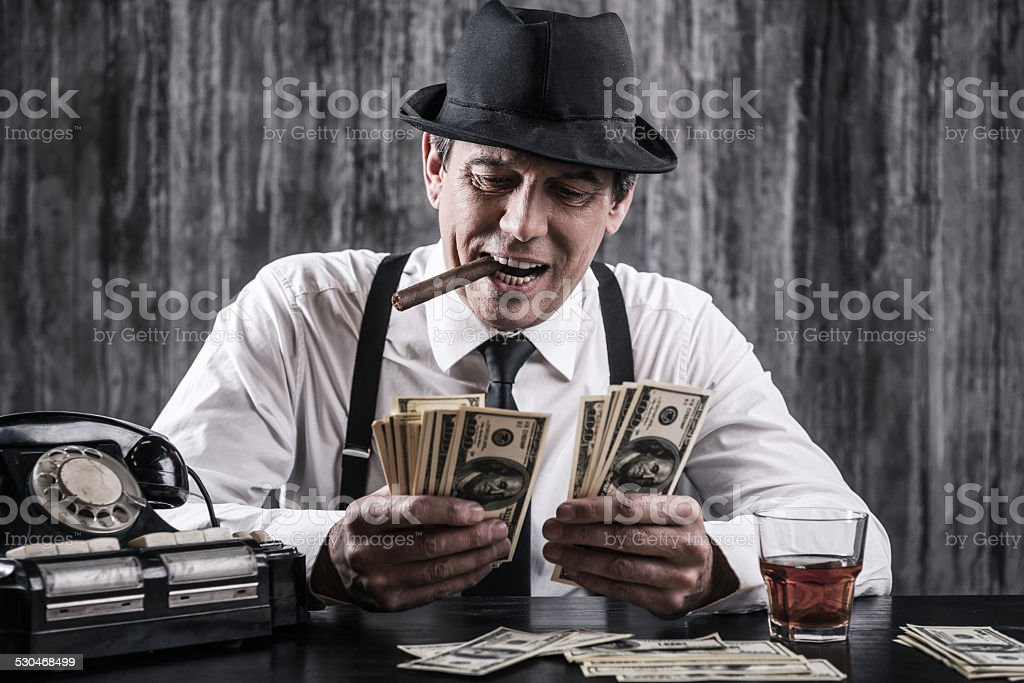 Money and power. stock photo