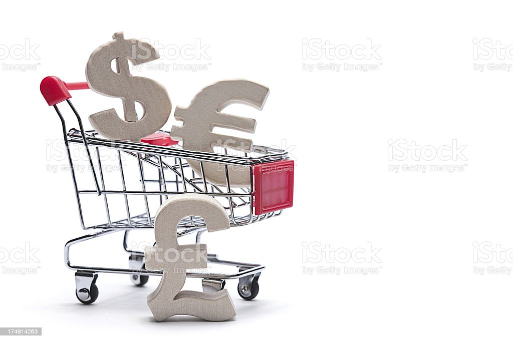 Money and shopping concept royalty-free stock photo