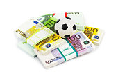 Money and soccer ball