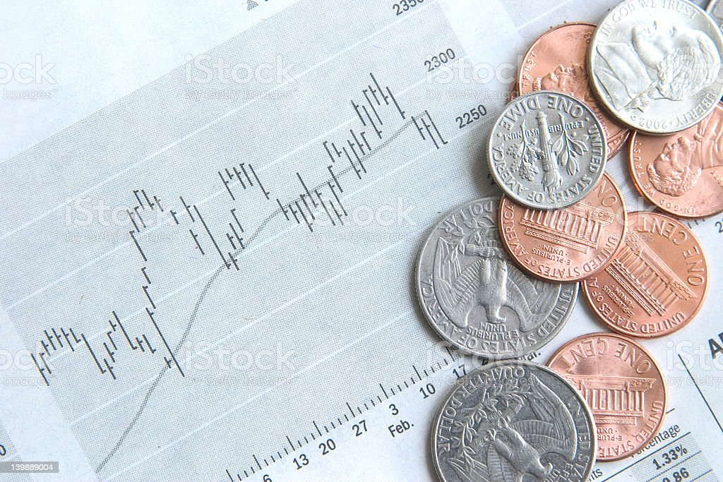 Money and stocks stock photo