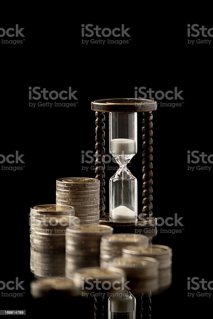 Money and time royalty-free stock photo