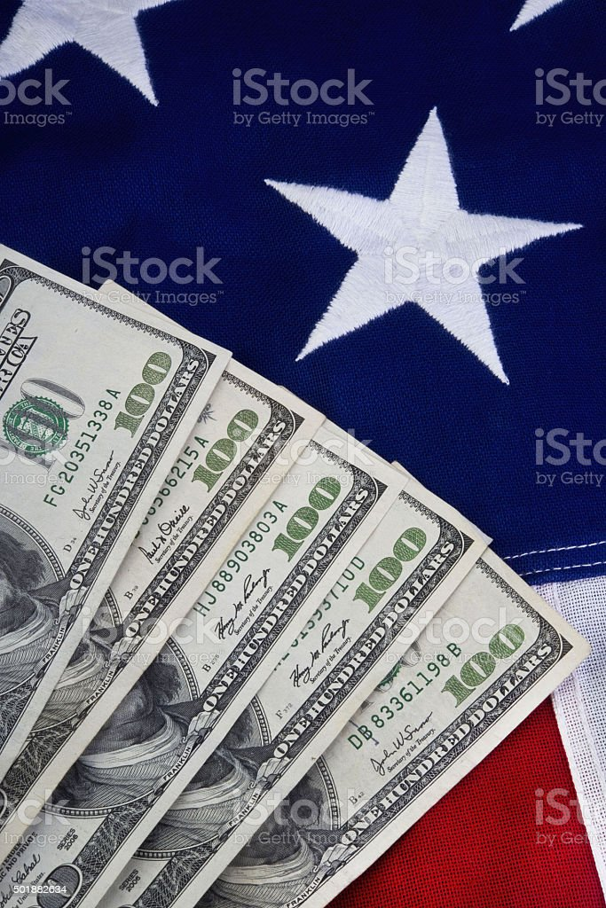 Money and USA. stock photo