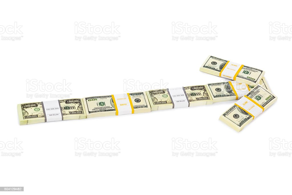 Money arrow stock photo
