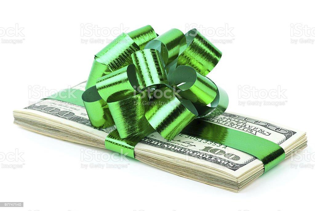 Dinheiro como uma oferta foto de stock royalty-free