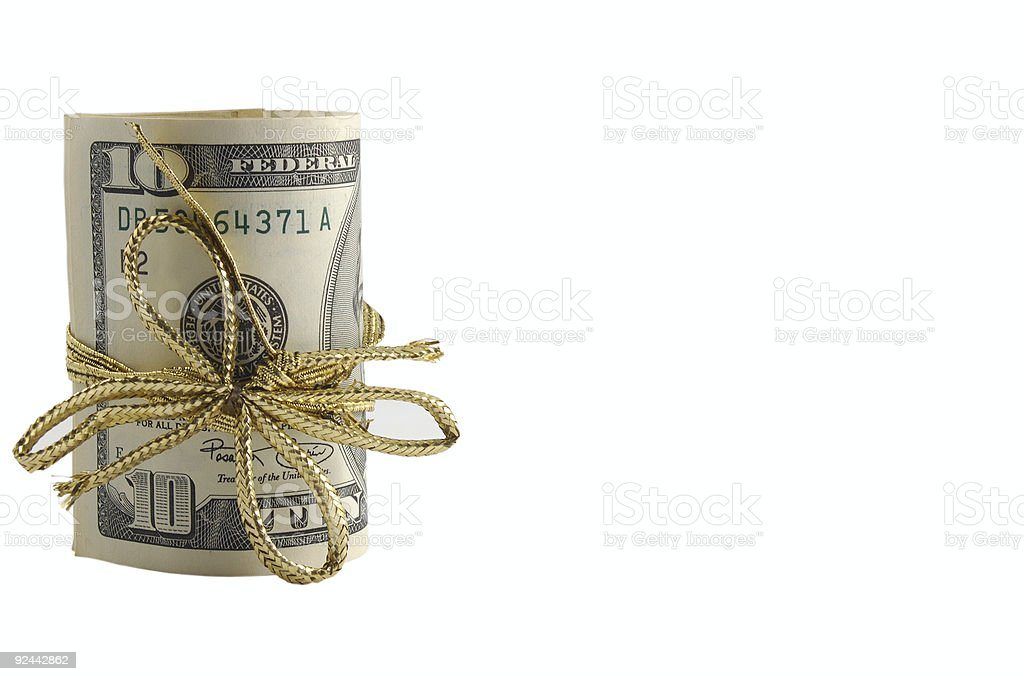 Money as a present royalty-free stock photo