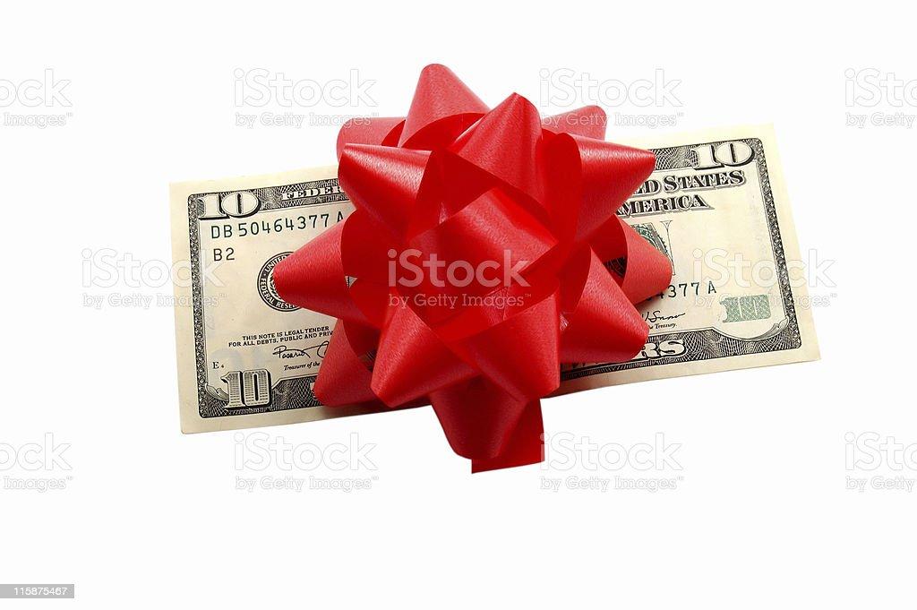 Money as gift stock photo
