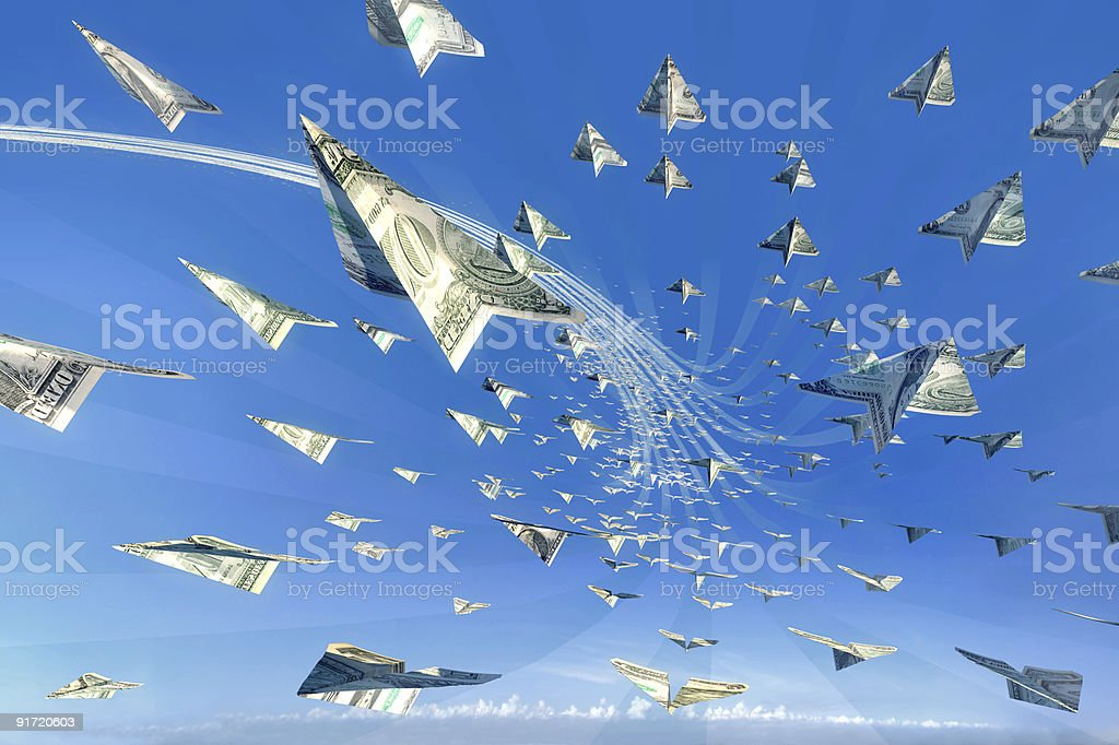 Money attack! Succes, winner, jackpot concept royalty-free stock photo