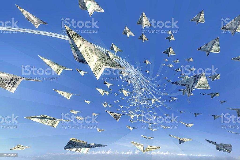 Money attack! Succes, winner, jackpot concept stock photo
