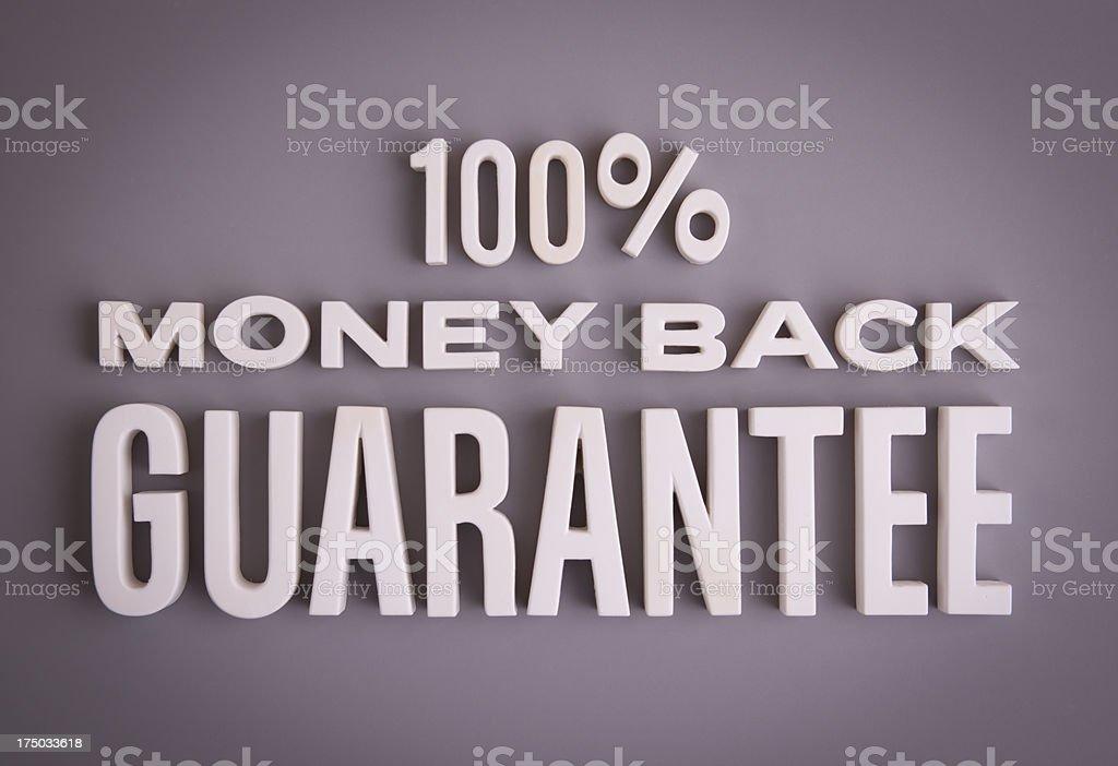 100% Money Back Guarantee royalty-free stock photo
