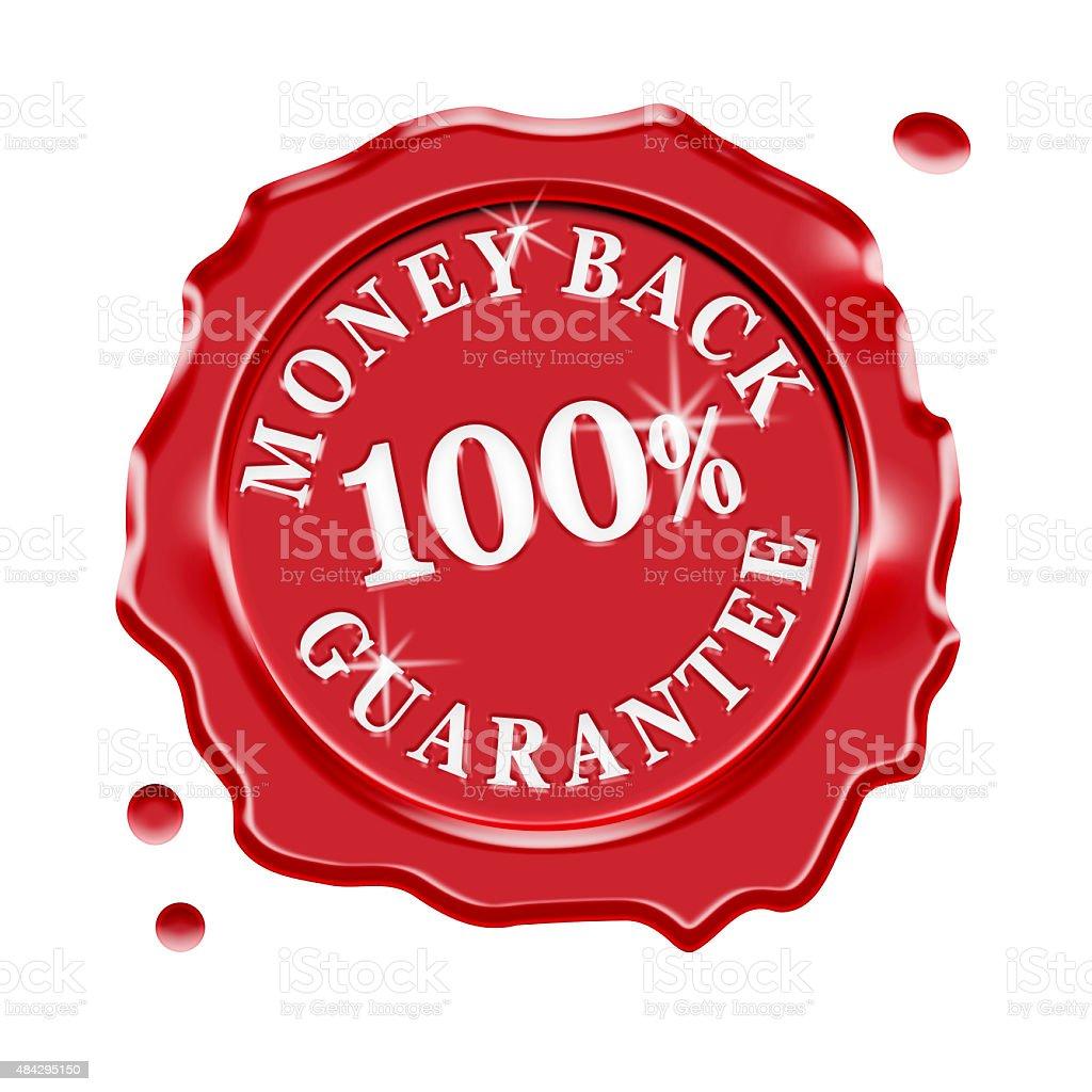 Money Back Guarantee Warranty stock photo
