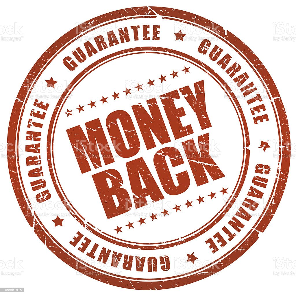 Money back stamp royalty-free stock photo
