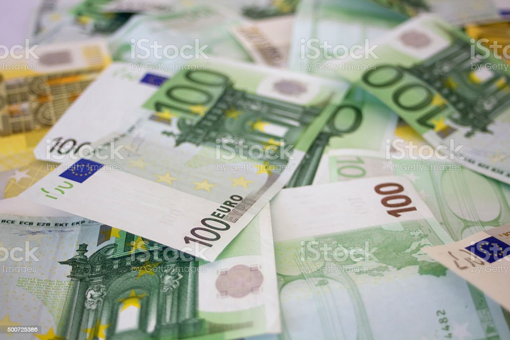 Money background. Euros stock photo