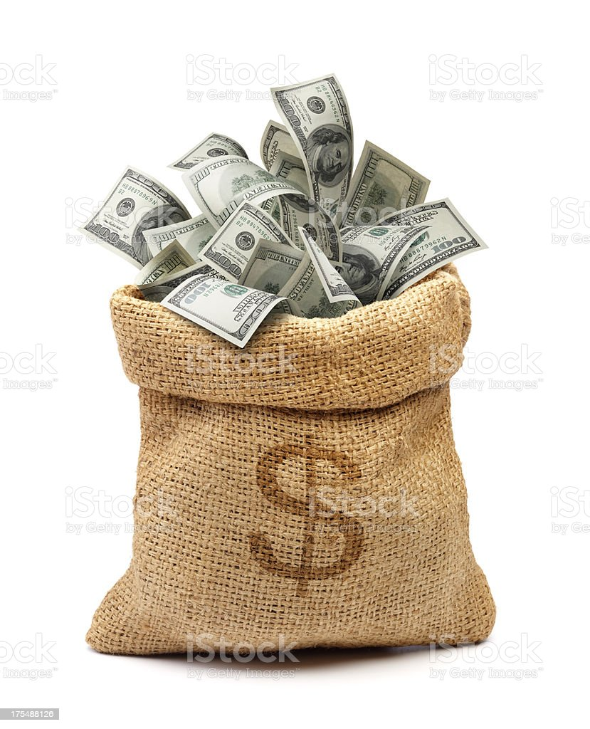 money bag royalty-free stock photo