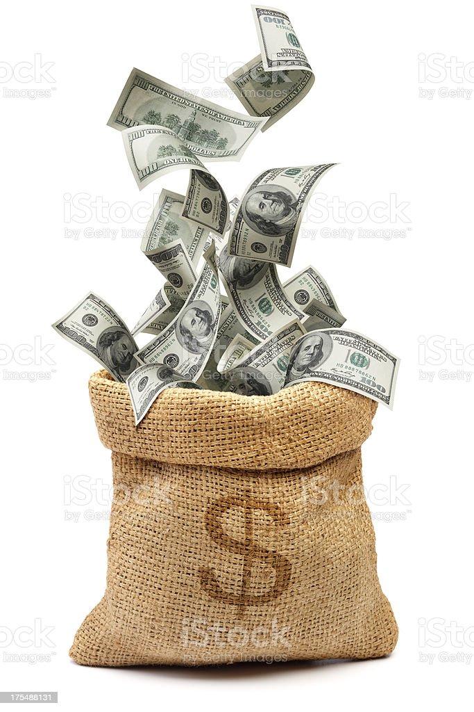 money bag royalty-free stock photo