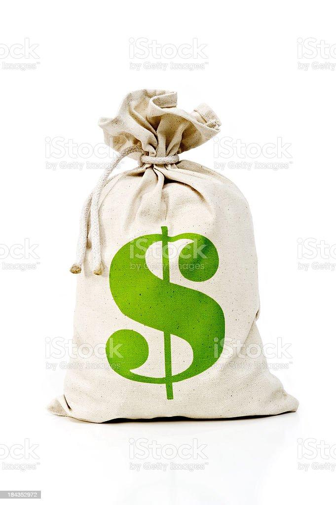 US Money bag royalty-free stock photo