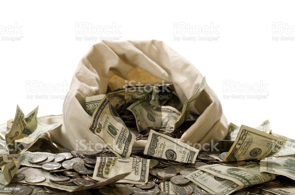 Money Bag! royalty-free stock photo