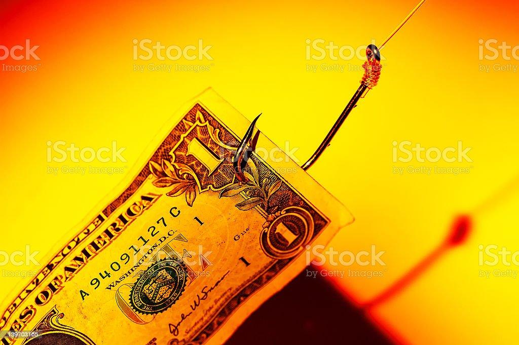 Money Bait royalty-free stock photo