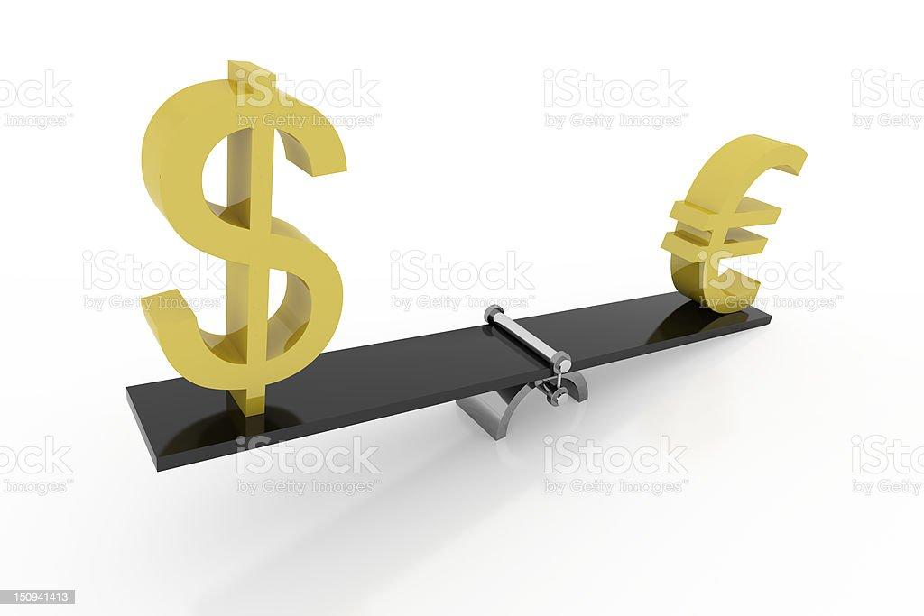 Money balance royalty-free stock photo