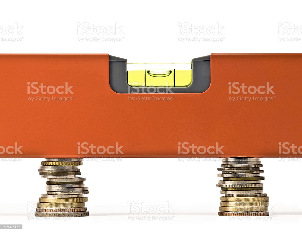 Money balance royalty-free stock photo