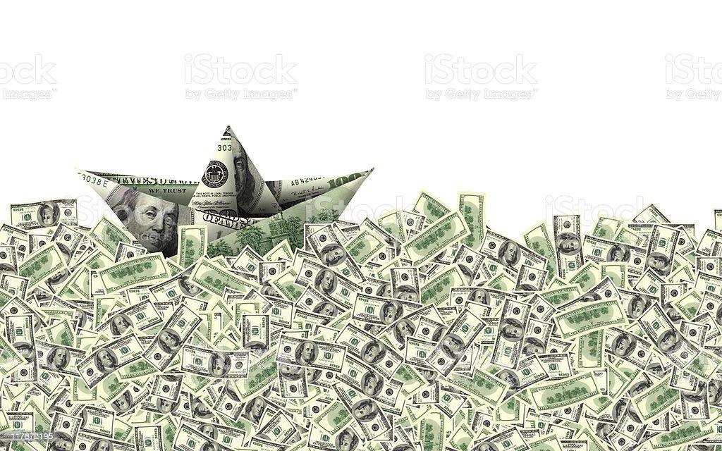 money boat royalty-free stock photo