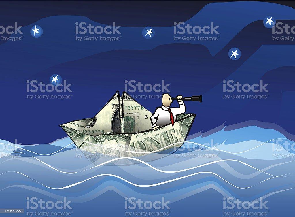 money boat stock photo