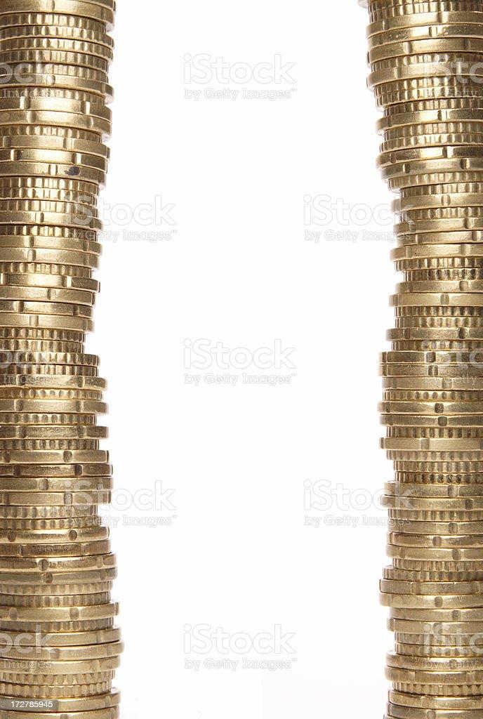 Money border stock photo