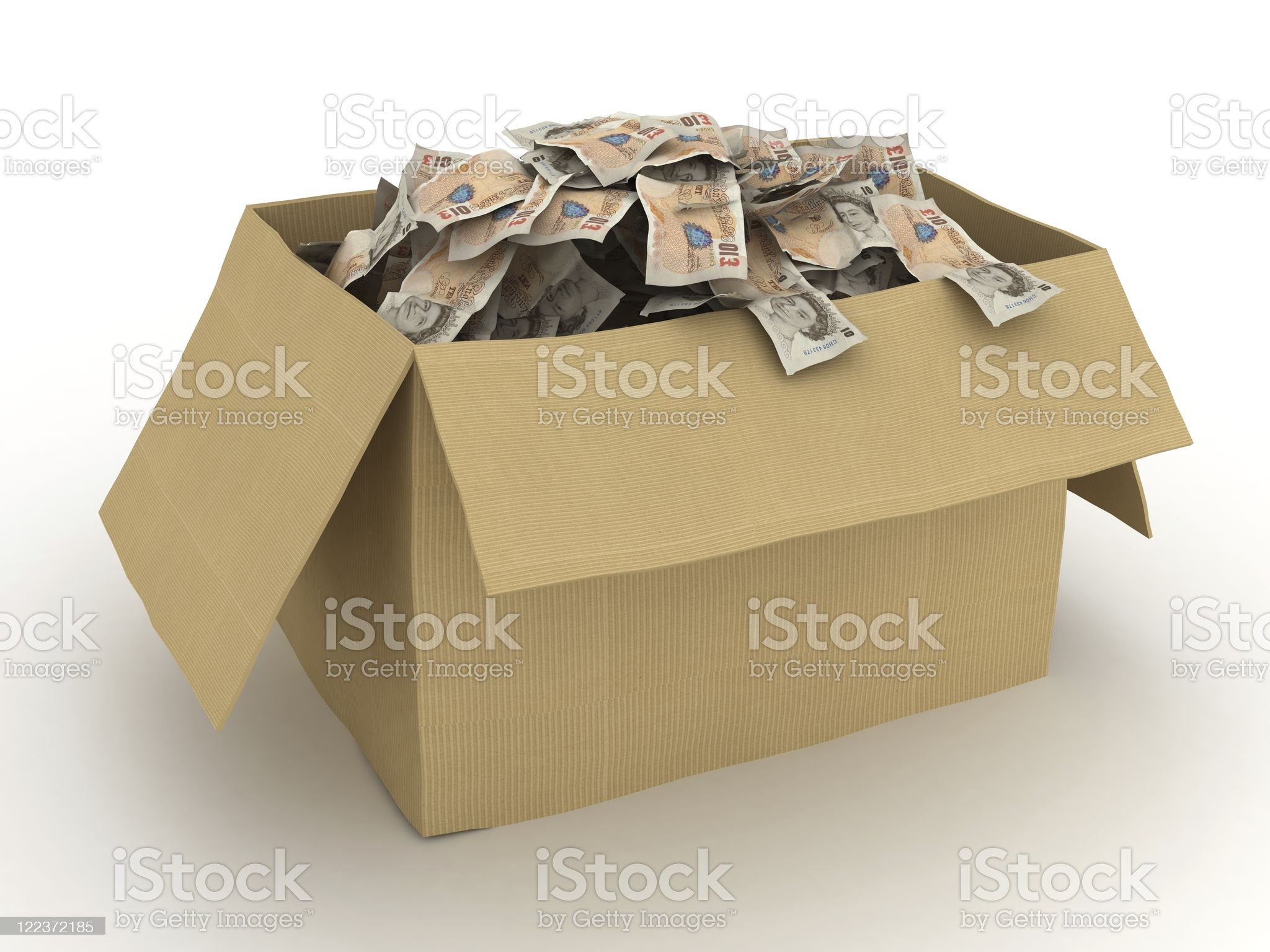 Money Box - UK Pounds royalty-free stock photo