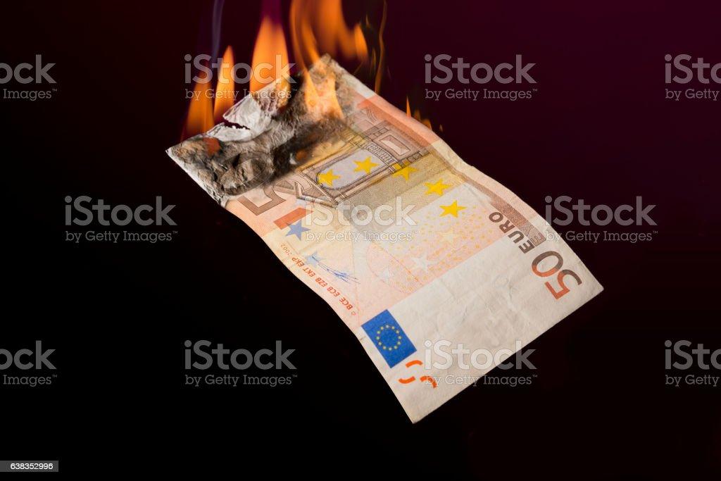 Money Burning stock photo