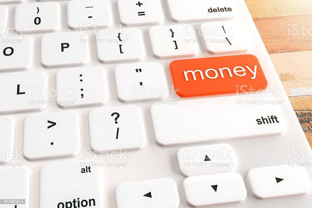 Money button stock photo