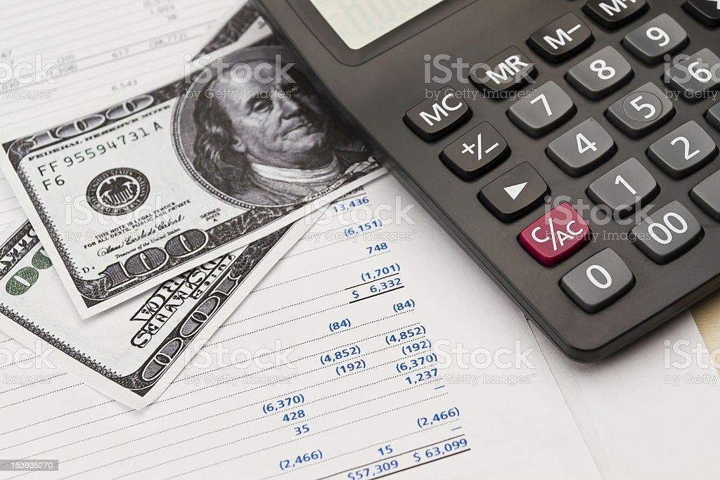 Money & calculator royalty-free stock photo