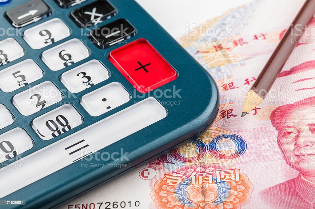 money calculator royalty-free stock photo