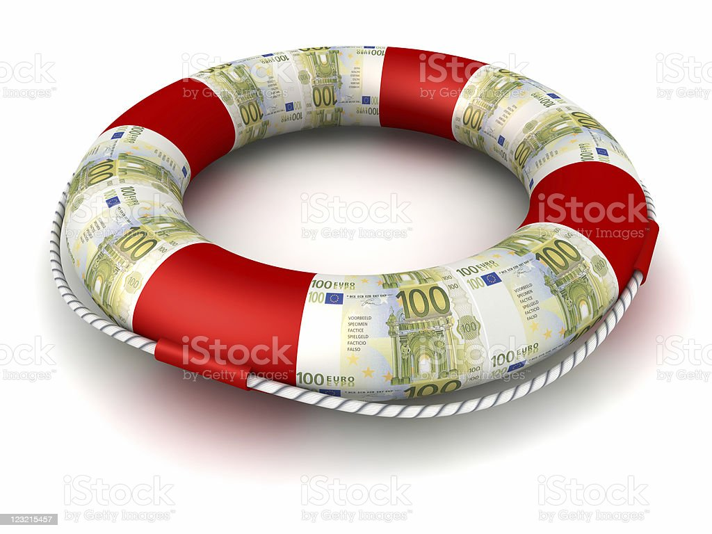 Money can be a life preserver sometimes. royalty-free stock photo